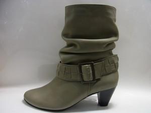 婦人靴 レディースシューズ ショートブーツ 本革 メッシュベルトつき・ショートブーツ yuriko matsumoto