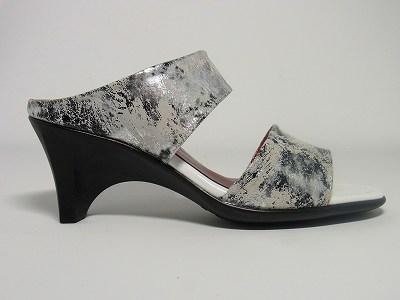 婦人靴 レディースシューズ モールドソール・リッチ革 ミュール yuriko matsumoto