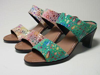 婦人靴 レディースシューズ ミュール・リッチ革 yuriko matsumoto