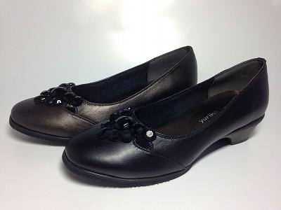 婦人靴 レディースシューズ ストーン風シューズ 本革 yuriko matsumoto