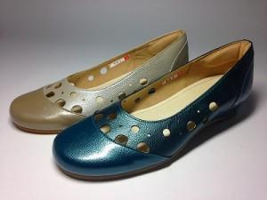 婦人靴 レディースシューズ パンプス パンチングシューズ