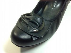 婦人靴 レディースシューズ 金具付きパンプス ヒール冠婚葬祭 yuriko matsumoto